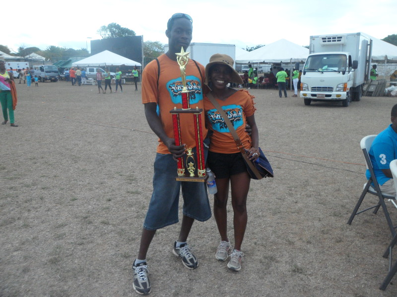 Me and a Star Participant, Fun Day 2013 with winning trophy