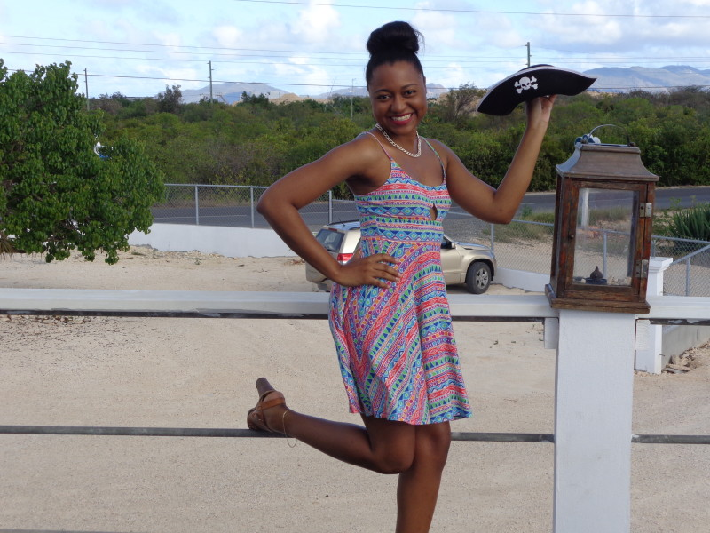 Sherise at Pokers Plank Restaurant, Tourist Day 2013, Anguilla