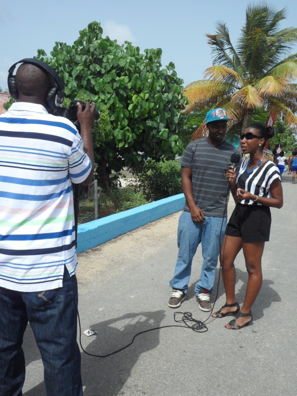 Interview about myanguillaexperience.com at Street Fair, Anguilla