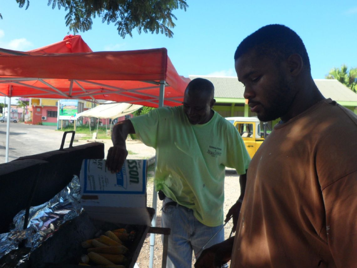 Roast Corn in Anguilla