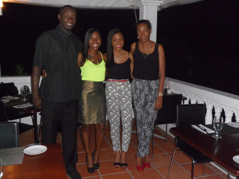 The family at Axa Seafood House - My Anguilla Experience