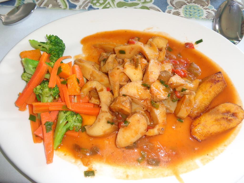 Conch Creole at Tasty's Restaurant - Guilty of starting to eat :)