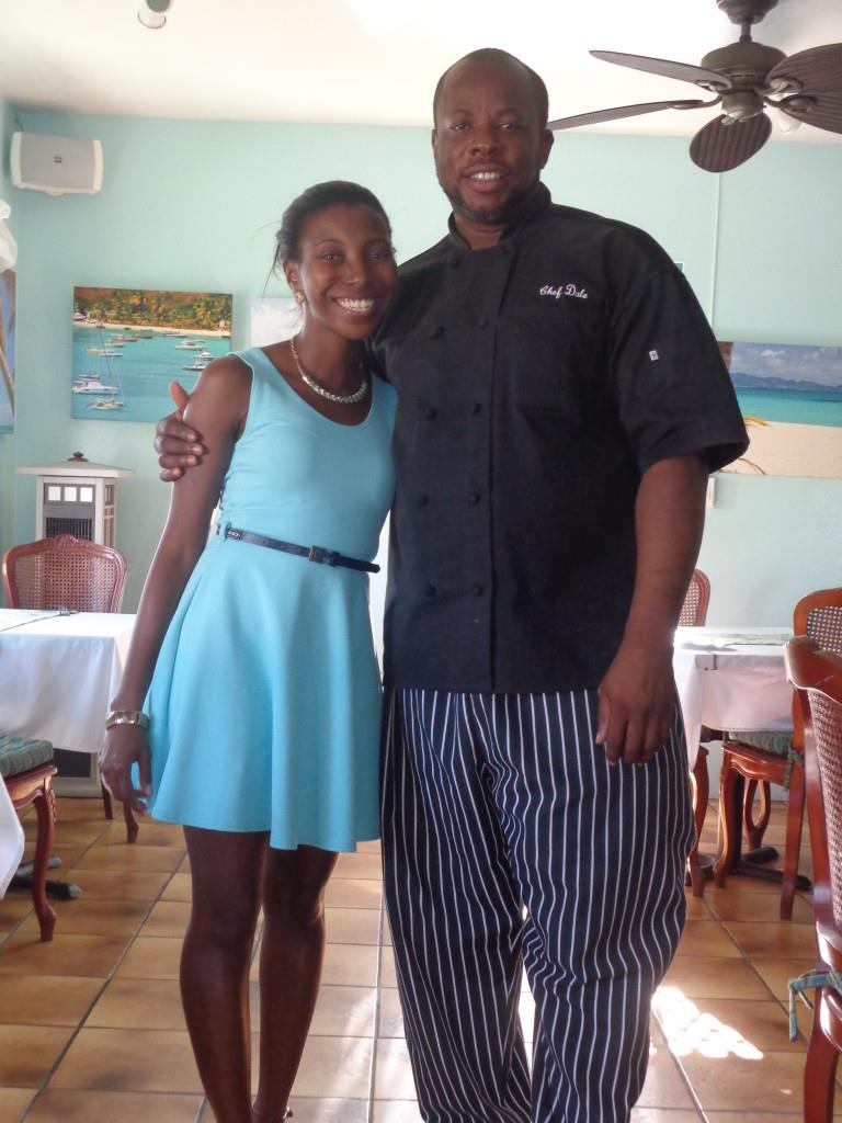 Dale and I at Tasty's restaurant for My Anguilla Experience's Blog Birthday