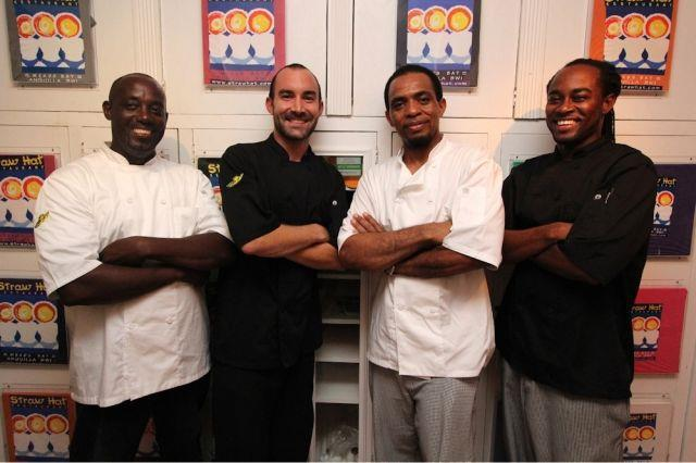 Straw Hat Chef Nick Delinger and members of Team