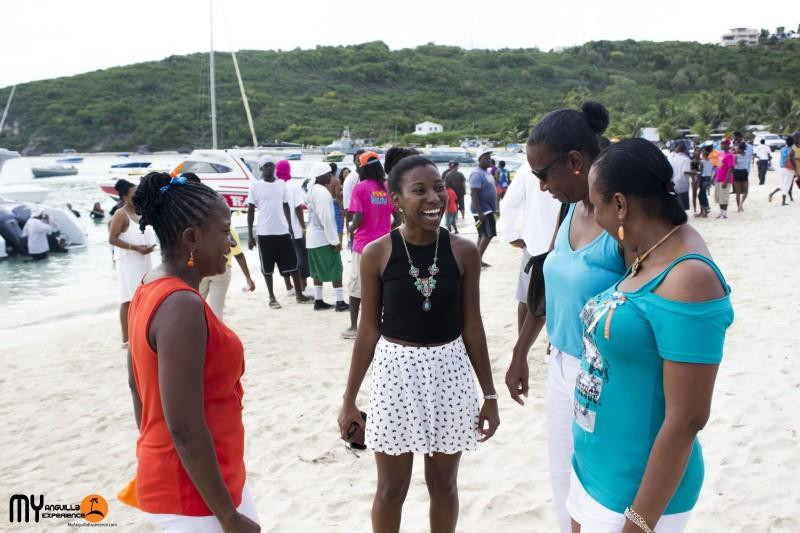 Family at boat race, Anguilla