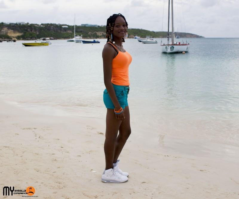 Mikayla at Anguilla Day boat race