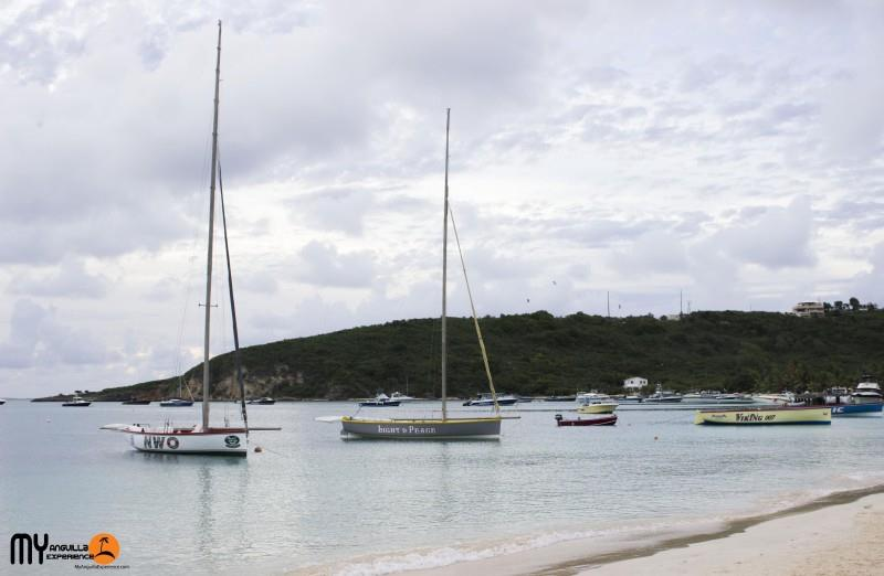 Boats at rest at Anguilla Day boat race