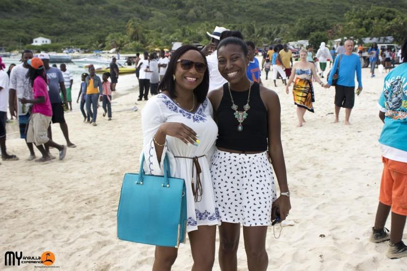 Laurelei and Shelly at Anguilla Day boat race