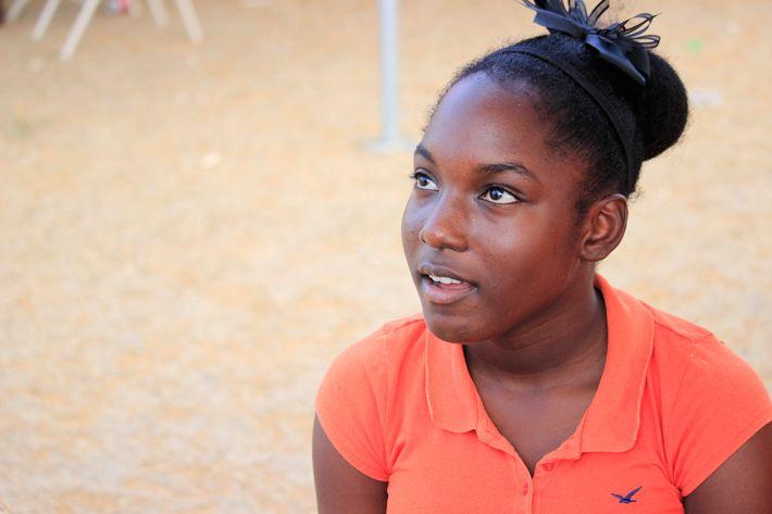Girl at Fisherman Day Anguilla