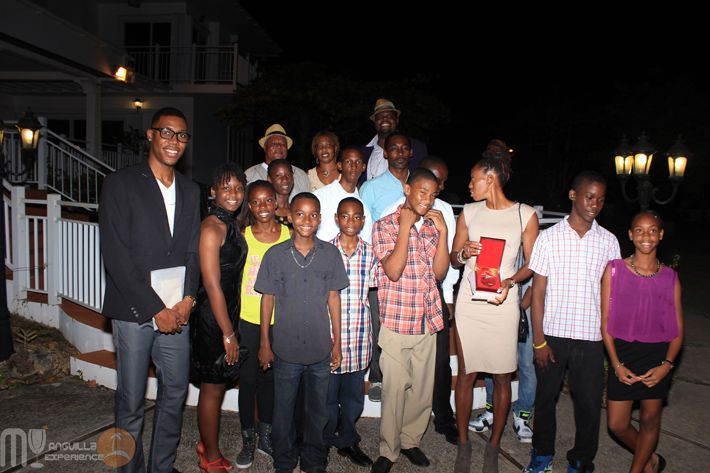Zharnel Hughes and Shara Proctor with Anguilla young Athletes