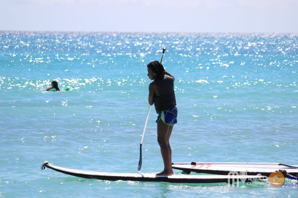 Paddleboarding with Anguilla Watersports