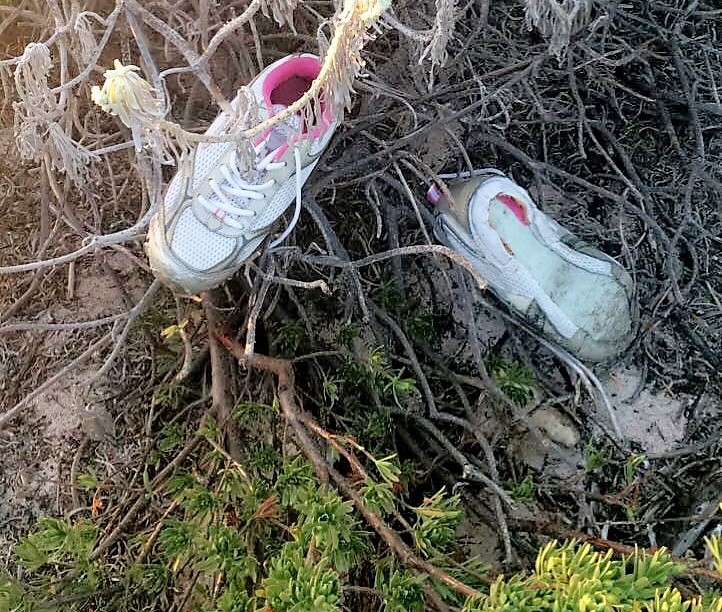 Old abandoned shoes